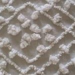 Close up of needletuft chenille.