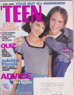 October 1995 cover with the late nineteen-year-old Jonathan Brandis & Michelle Holgate, the 1995 'Teen's Great Model Search winner