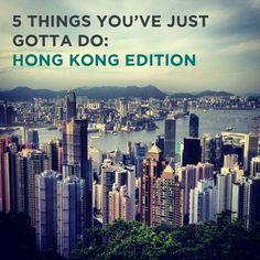 Top 5 things to do in Hong Kong.
