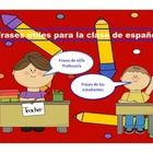 This product is utilized to teach students common classroom phrases in Spanish. The presentation includes phrases that both teacher and student wil...