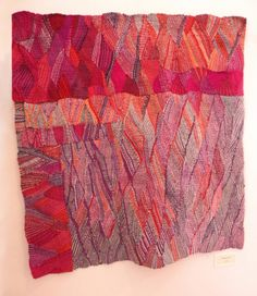weaving by Silvia Heyden, looks like a pen drawing! Textile Tapestry, Textile Fiber Art, Tapestry Weaving, Textile Artists, Weaving Textiles, Weaving Art, Hand Weaving, Contemporary Tapestries, Fabric Structure