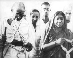 This is a photo of Mahatma Gandhi and Sarojini Naidu.  It was taken during the Salt March, an important event in the Indian Independent Movement.