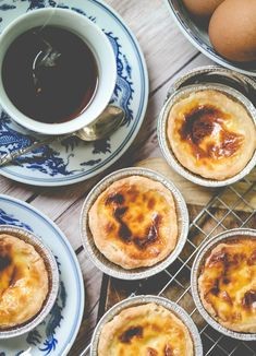 """Baking portugese egg tart has been on my """"To Do List"""" for the longest of time and I am glad that it has happened over the weekends. Baked Egg Custard, Custard Tart, Portuguese Egg Tart, Vegetarian Eggs, Sugar Rush, Cornbread, Baking Recipes, Creme, Breakfast"""