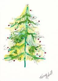 Christmas Tree and other watercolor images