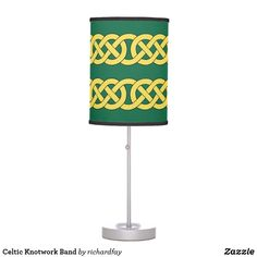 Celtic Knotwork Band Table Lamp.   Sunday Steal: 50% Off Dry Erase Boards, Clipboards & Desk Lamps USE CODE: ZSUNSTEAL182 Offer is valid through June 11, 2017 11:59PM PT.  #Zazzle #Sunday_steal #desk_lamp #table_lamp #Celtic_knots #Celtic_knotwork #knotwork_band #knotwork