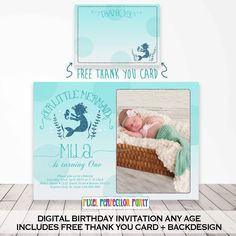 1st Birthday Invitations Gold Mermaid 10th Parties Party Ombre