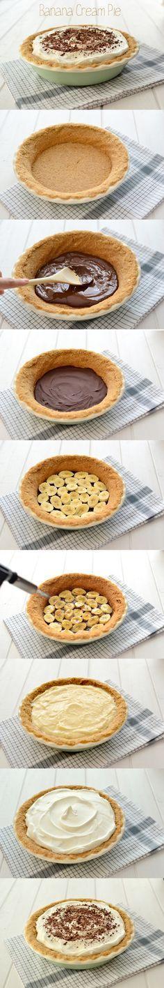 Banana cream pie - Tarta de plátano