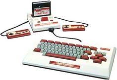 Nintendo Family Computer. This is an initiation computer. It was sold as an add-on for the Japanese Famicom (but can't be connected to a NES as it lacks the Famicom's Expantion Port).