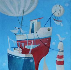 ajsha / small port 1 Projects, Painting, Art, Art Background, Blue Prints, Painting Art, Kunst, Paintings, Performing Arts