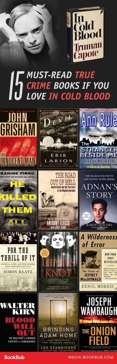 15 thrilling true crime books to read for fans of Truman Capote's In Cold Blood.