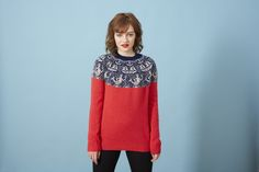 'Mermen and Volcanoes'is Donna Wilson's third collection of women's knitwear, inspired by fables from the sea, frequent trips to Iceland and Donna's nativ