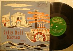 "Jelly Roll Morton ""Solos"" transcribed from piano rolls used vinyl 10"" LP record"