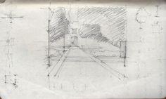 Giardini pubblici di Cagliari, aspettando Elisa  #Cagliari #Sardinia #Spring #park #drawing #pencil