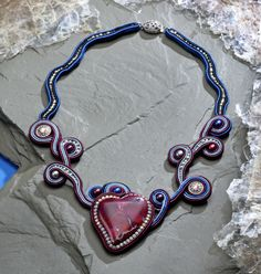 A Valentine's-themed project preview from Anneta Valious' soon-to-be-released book: Soutache