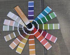 soft autumn color palette indigo tones | Above 2 pictures of the 12 Tones True Autumn Fan.