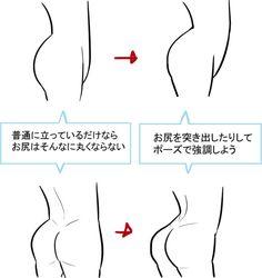 構造を理解すれば魅力倍増! お尻の描き方講座|イラストの描き方 お尻を描くコツ Drawing the buttocks: Understanding structure | Illustration Tutorial A good pose makes round buttocks