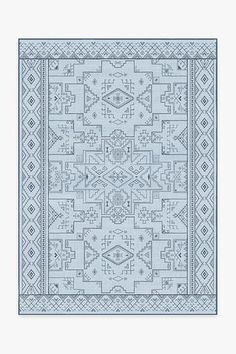 Featuring an intricate network of geometric lines and shapes, softened by a bicolor scheme of neutral grey and slate blue, this rug revives an old-world favorite and gave it a fresh, modern spin. Machine Washable Rugs, Black Rug, White Rug, Black White, Gold Rug, Geometric Lines, Natural Rug, Red Rugs
