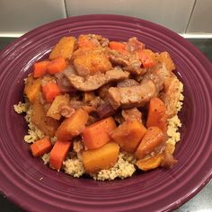 Squash and Sweet Earth Traditional Seitan Strips Tagine with apricots