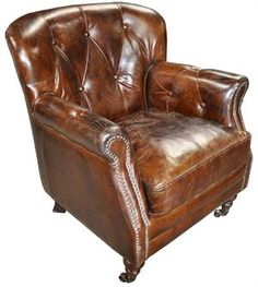 Vintage Cigar Leather Club Chairs