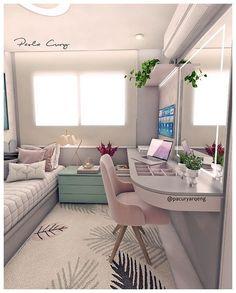 Interior Living Room Design Trends for 2019 - Interior Design Teen Room Decor, Room Ideas Bedroom, Small Room Bedroom, Home Bedroom, Bedroom Decor For Kids, Bedroom Ideas For Small Rooms For Girls, Tumblr Bedroom Decor, Teen Bedroom Colors, Room Decor Bedroom Rose Gold