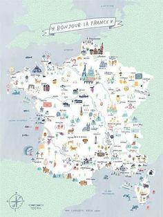 map of france bonjour la france charlotte klein