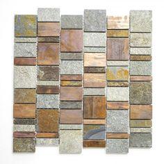 MOSAIK STEN/KOPPARBEHANDLING MIX/ PER ARK - Mixmosaik - Mosaik - Kakel & Klinker - Golv & Kakel