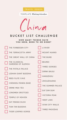 Top things to do in China- China Bucket list - Instagram Story Template - kelseyinlondon- Kelsey Heinrichs - What to do in China- Where to go in China- top places in China
