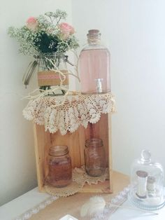 Drink station at a Valentine's Day party! See more party planning ideas at CatchMyParty.com!