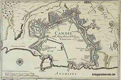 Plan von Candia Vintage World Maps, How To Plan, Venice, German