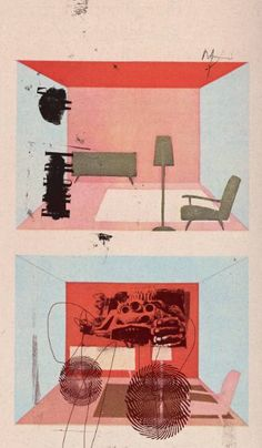 Buy Apt. 7, Edition of 10, Print 3, a Paper on Paper by Micosch Holland from Germany. It portrays: Architecture, relevant to: interieur, architecture, art, graphic, modern Edition of 10, Print 3, signed and numbered