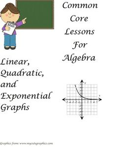 This worksheet consists of three different types of graphs giving students practice in determining whether a graph represents a linear, quadratic, or exponential graph. Answer key is included