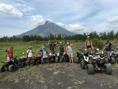 Group of CWC guest setting out on their ATV tour at Mayon Volcano