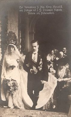 King Manuel II of Portugal and Princess Auguste Viktoria of Hohenzollern - 1913  Wedding of King Manuel II of Portugal and Princess Augusta Vitória Hohenzollern-Sigmaringen, on September 4th 1913. Photos can be found here:    Casamento de S.M. El-Rei D. Manuel II