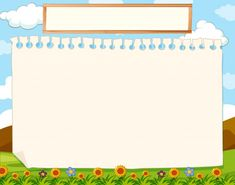 A nature blank note Free Vector Background Wallpaper For Photoshop, Kids Background, Flower Background Wallpaper, Cartoon Background, Yellow Background, Background For Powerpoint Presentation, Powerpoint Background Templates, School Border, School Scrapbook Layouts