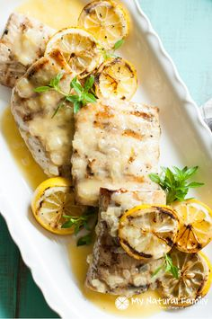 Grilled Mahi Mahi in a Lemon Butter Sauce (Carrabba's Copycat) {Paleo, Clean Eating, Gluten Free}