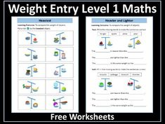 Weight Worksheets Entry Level 1 Maths Math Fractions, Maths, Powerpoint Lesson, Heavy And Light, Certificate Of Achievement, Aqa, Writing Numbers, Addition And Subtraction, Entry Level