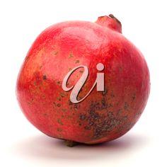 pomegranate isolated on white background Pomegranate, The Cure, Fruit, Red, Granada, The Fruit, Pomegranates, Garnet