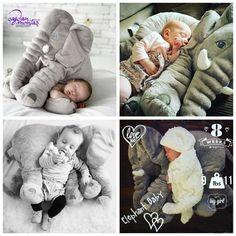 Творческий Плюшевые Игрушки Ребенка Взрослого Слона Комфорт Подушка Подушка Обязуется Подарок для Семьи Животных Детские Игрушки купить на AliExpress