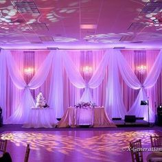 Beautiful draping and decor by 1000 Fine Events. Lighting by X-Generation Entertainment. Photo courtesy of Hieu Ngoc Nguyen. | Yelp