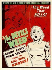 20x30 1936 Marijuana Exposed Classic Adults Only Movie Poster