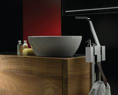 WOLO Washbasin Mixer Series also gives you the option of installing a free-standing version beside your washbasin. Sanitary Solutions By Hafele