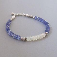 Jewelry for Women Gold Filled Rose Aquamarine /& Morganite Beaded Bracelet Sterling Silver 5mm Chunky Gemstone Rondelle Stack Bracelet