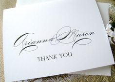 Thank you cards wedding thank you cards by PaperLovePrints on Etsy