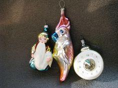 SET VTG SOVIET RUSSIAN GLASS ORNAMENT DECORATION Christmas TOY New Yer # 2 in Glass, Crystal | eBay