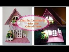 Casinha Luminária feita com caixa de Leite- ATUALIZADA- - YouTube