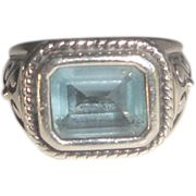 14k Gold & Sterling Silver Ring with Nice Texture