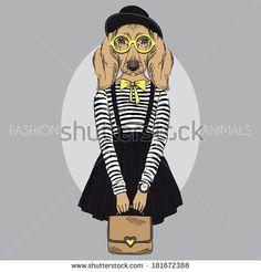 Stock Images similar to ID 190708979 - fashion illustration of foxy...