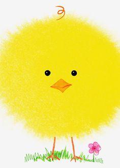 Margaret Berg Art: Fluffly+Easter+Chick+Close-Up