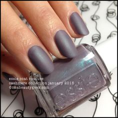 Essie Coat Couture from the Essie Cashmere Matte Collection launching January 2015 ©imabeautygeek.com - click thru for the rest of the collection swatches!