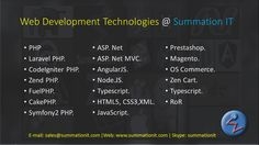 """Basket full of #Web #development technologies @ Summation IT. Be it an #ecommerce website or #singlepageaplication we have everything in store for You.A bunch of young energetic, dynamic, people who love what they do and most importantly who they work for? That is """"YOU"""". We understand how important """"You"""" are for us. It makes glad to us if we meet our clients need through our excellence in domain knowledge. Our Web development technologies include #php #laravelphp #fuelphp #cakephp…"""